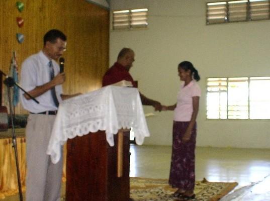 Receiving an award