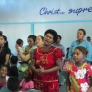 Worship in Living way Church, Nadi, Fiji