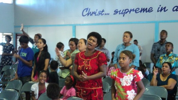 Worship in Living way Church, Nadi, Fiji