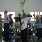 Church in Nadi fiji in worship