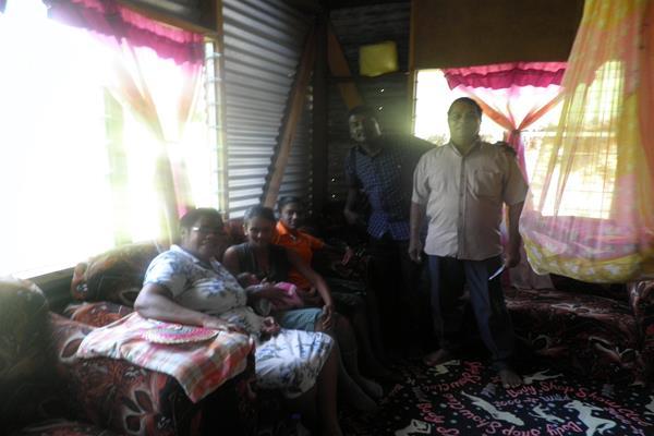 Pastor Vijay's team visiting a family in Bulileka, Labasa