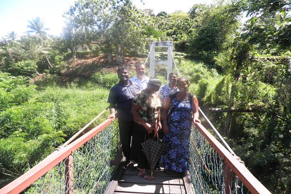 The Shaking bridge at Urata, Labasa