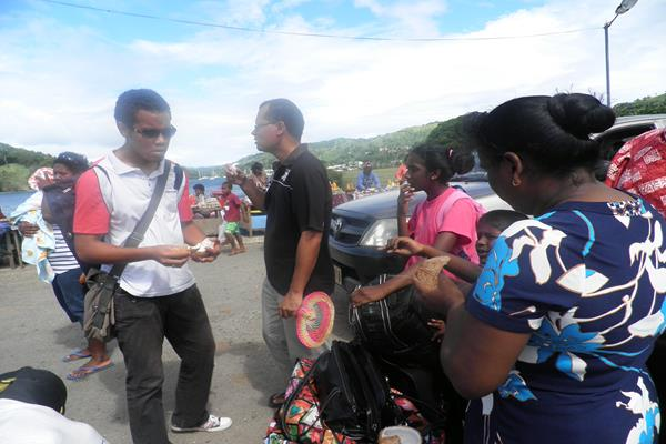 Getting ready to board the ferry to Suva